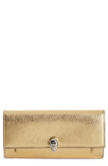 Women's Alexander Mcqueen Leather Travel Wallet -