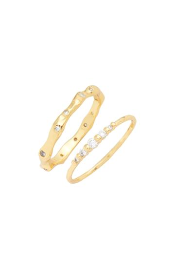 Women's Gorjana Collette Set Of 2 Rings