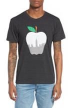 Men's Casual Industrees Ny Apple Graphic T-shirt - Black
