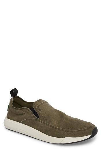 Men's Sanuk Chiba Quest Slip-on Sneaker /9 M - Green