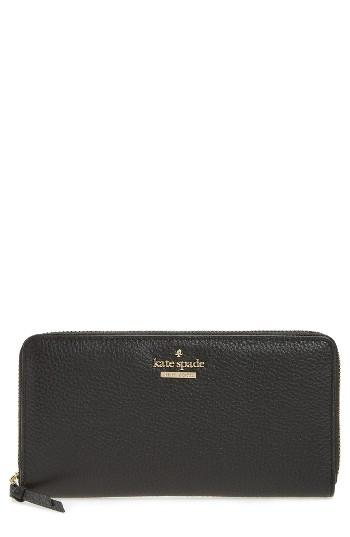 Women's Kate Spade New York Jackson Street Lacey Leather Wallet - Black