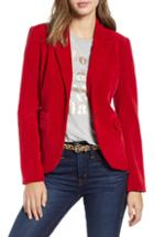 Women's Blanknyc Drape Front Faux Suede Jacket