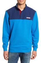 Men's Vineyard Vines Shep Colorblock Quilted Pullover - Blue