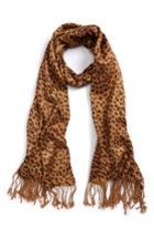 Women's Saachi Leopard Print Scarf, Size - Beige