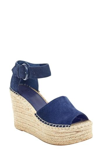 Women's Marc Fisher Ltd Alida Espadrille Platform Wedge M - Blue