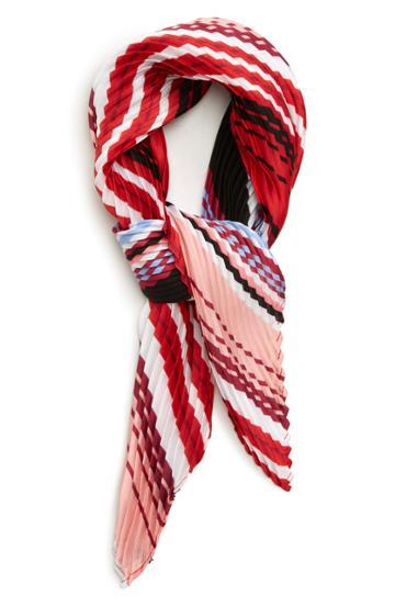 Women's Halogen Plisse Kite Scarf, Size - Red