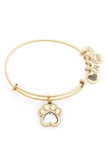 Women's Alex And Ani Prints Of Love Adjustable Wire Bangle