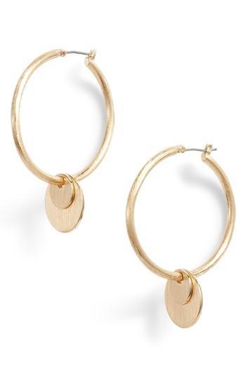 Women's Rebecca Minkoff Medallion Hoop Earrings