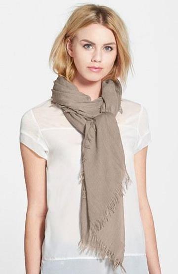 Women's Hinge Chambray Scarf Womens Tan