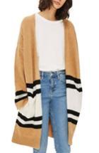 Women's Topshop Stripe Colorblock Cardigan