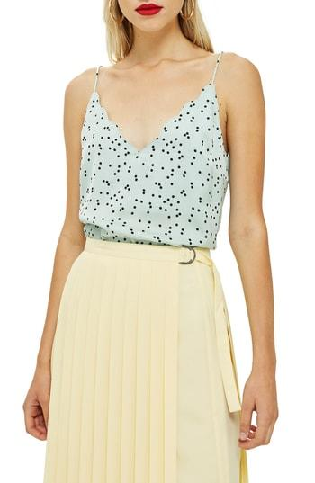 Women's Topshop Patterned Camisole Us (fits Like 0) - Green