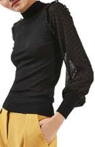 Women's Topshop Chiffon Sleeve Sweater