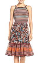 Women's Eci Mixed Media Fit & Flare Dress