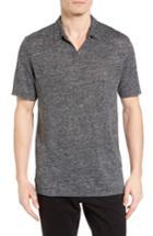 Men's Calibrate Linen Polo - Grey