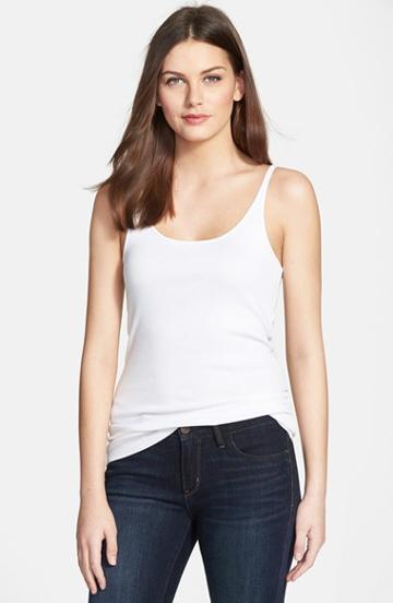 Petite Women's Eileen Fisher Organic Cotton Tank P - White