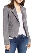 Women's Blanknyc No Limit Suede Moto Jacket - Grey