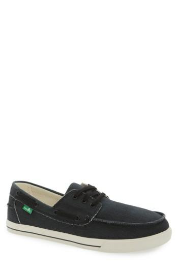 Men's Sanuk 'the Sea Man' Boat Shoe .5 M - Black