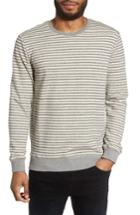 Men's Slate & Stone Stripe Crewneck Sweatshirt