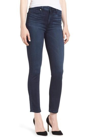 Petite Women's Paige Transcend - Hoxton High Waist Ankle Ultra Skinny Jeans - Blue