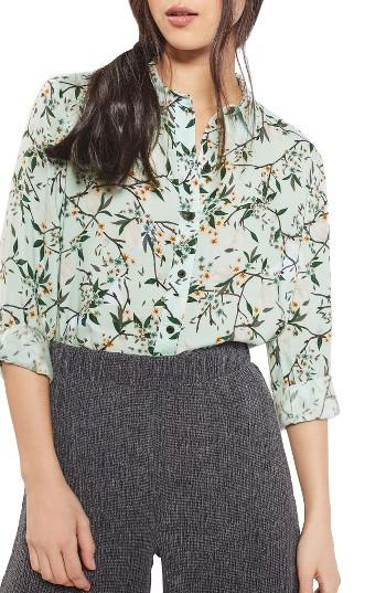 Petite Women's Topshop Cherry Blossom Shirt