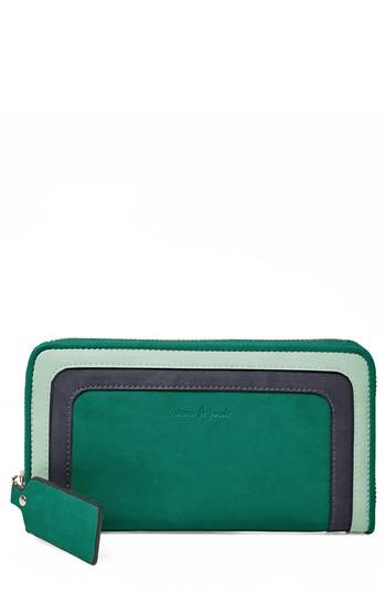 Women's Urban Originals Drama Queen Faux Leather Zip Wallet - Green