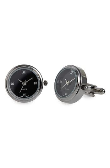 Men's Link Up Watch Face Cuff Links