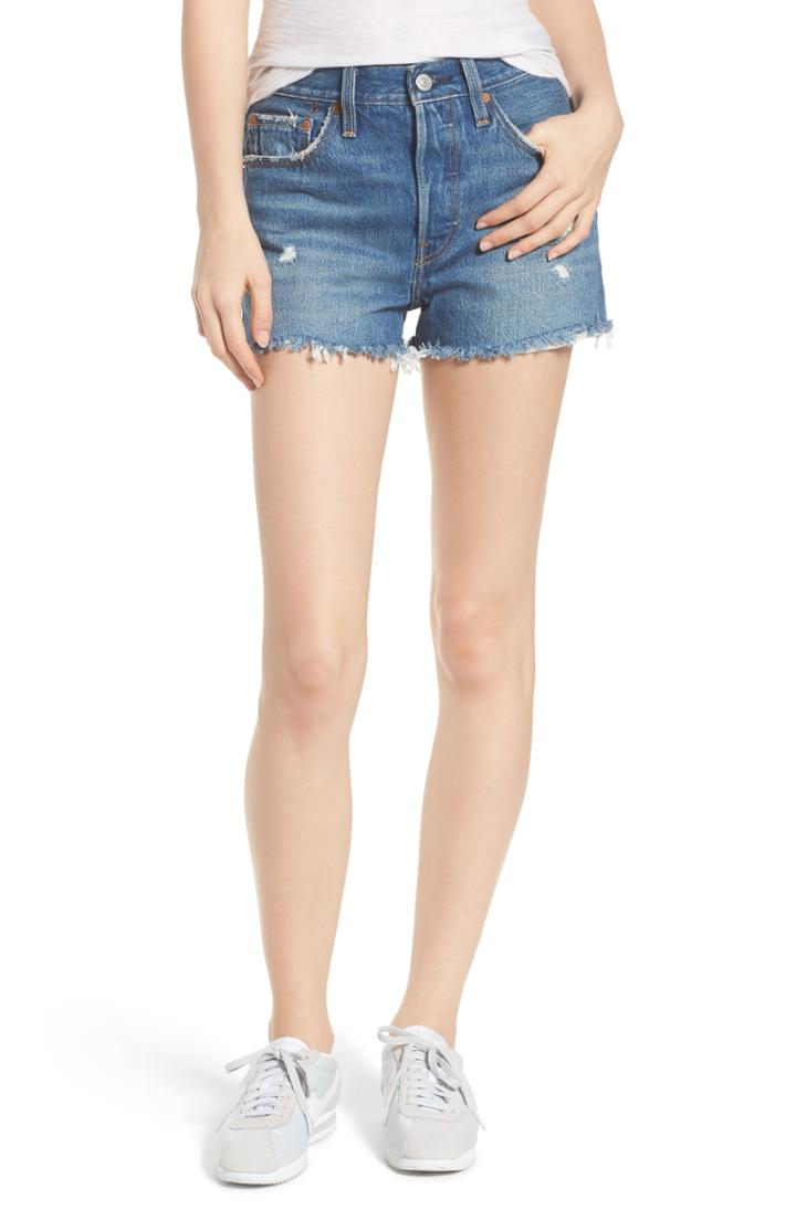 Women's Levi's 501 High Waist Cutoff Denim Shorts