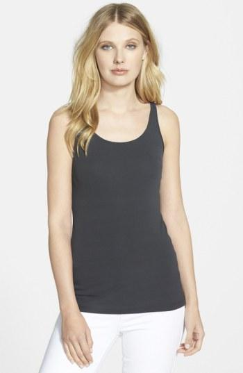 Women's Eileen Fisher Long Scoop Neck Camisole, Size X-small - Grey (regular & ) (online Only)
