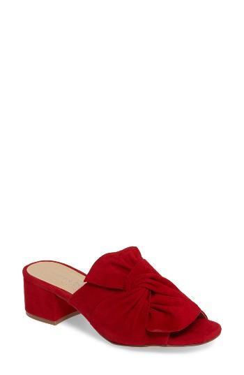 Women's Chinese Laundry Marlowe Slide Sandal .5 M - Red