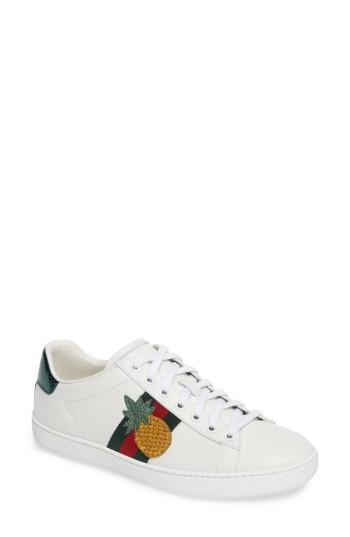 Women's Gucci New Ace Bee Sneaker .5us / 37.5eu - White