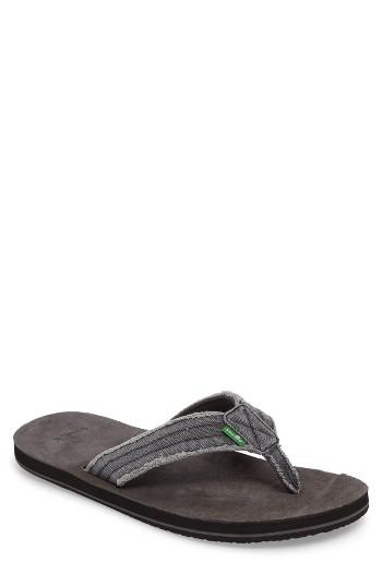 Men's Sanuk 'fraid Not' Flip Flop M - Grey