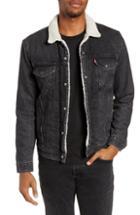 Men's Levi's Type 3 Faux Fur Lined Trucker Jacket - Black