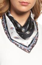 Women's Rebecca Minkoff Baby Ditsy Floral Silk Bandana, Size - Black