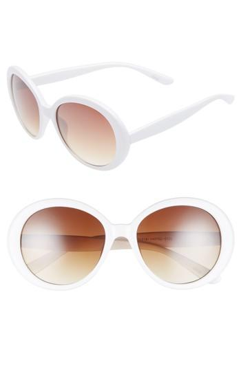 Women's Bp. 55mm Oval Sunglasses - Cream/ Brown