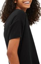 Women's Topshop Nibbled Scoop Neck Tee Us (fits Like 0-2) - Black