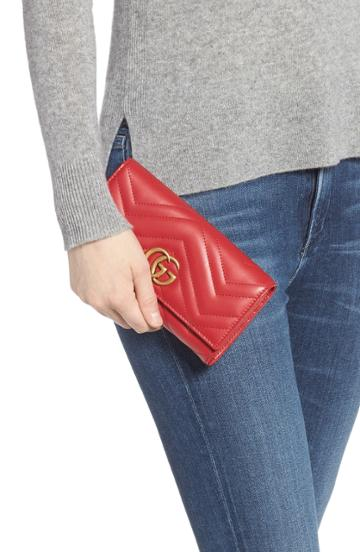 Women's Gucci Marmont 2.0 Leather Continental Wallet -