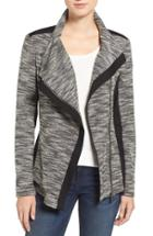 Women's Two By Vince Camuto Asymmetrical Mixed Media Jacket