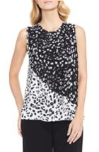 Women's Vince Camuto Animal Whispers Colorblock Blouse - Black