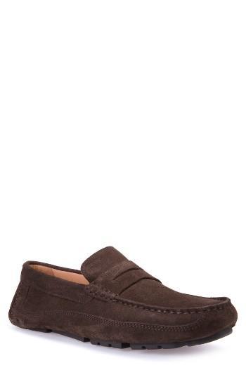 Men's Geox Melbourne 1 Driving Shoe Us / 39eu - Brown