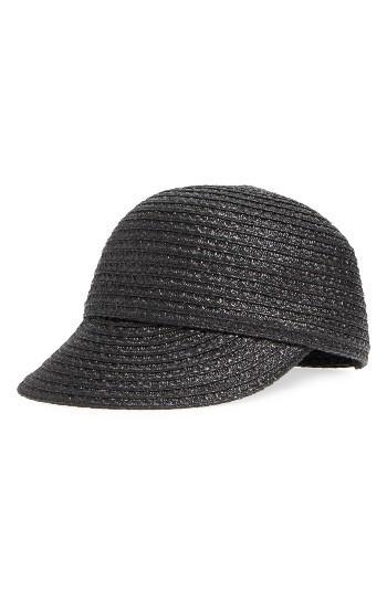Women's Eric Javits Mondo Woven Cap - Black
