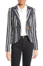 Women's Smythe Stripe Linen Blazer