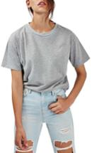Women's Topshop Distressed Edge Tee Us (fits Like 0) - Grey