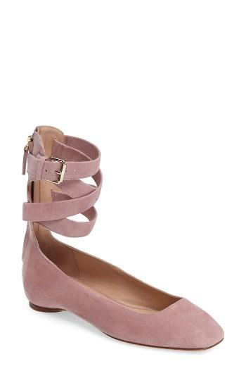 Women's Valentino Ankle Wrap Ballet Flat