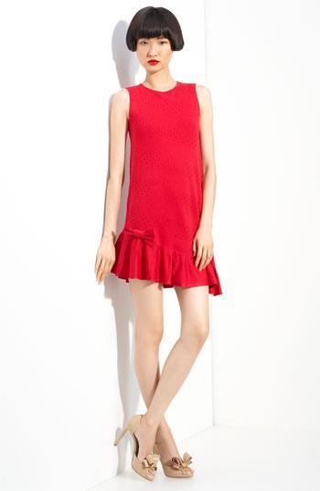 RED Valentino Asymmetrical Hem Wool Knit Dress