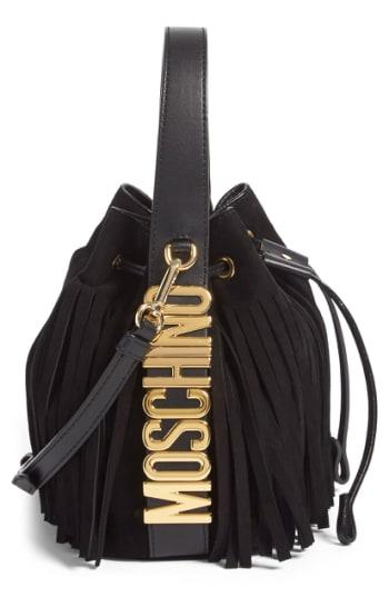 Moschino 'letters' Fringe Bucket Bag -
