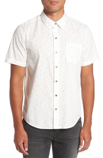 Men's Paige Becker Dot Print Woven Shirt - White