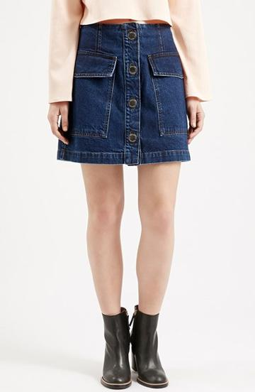 Women's Topshop Button Front Denim Skirt (nordstrom