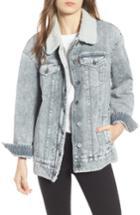 Women's Levi's Oversize Denim Trucker Jacket - Grey