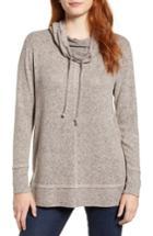 Women's Caslon Cowl Hood Pullover - Pink