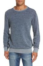 Men's Faherty Brand Stripe Crewneck Sweatshirt - Blue